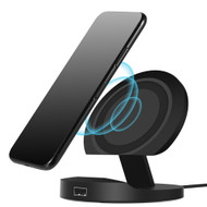 10W Fast Wireless Charger Stand Qi Charging Pad - Black