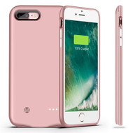 Quantum Energy Smart Power Bank Battery Charger Case 4880mAh for iPhone 8 Plus / 7 Plus - Rose Gold
