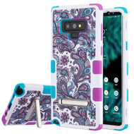 Military Grade Certified TUFF Image Hybrid Armor Case with Stand for Samsung Galaxy Note 9 - Persian Paisley