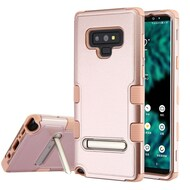 Military Grade Certified TUFF Hybrid Armor Case with Stand for Samsung Galaxy Note 9 - Rose Gold