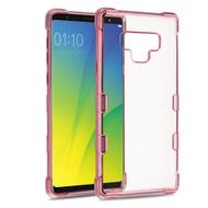 TUFF Klarity Electroplating Transparent Anti-Shock TPU Case for Samsung Galaxy Note 9 - Rose Gold