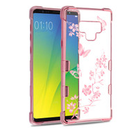 TUFF Klarity Electroplating Transparent Anti-Shock TPU Case for Samsung Galaxy Note 9 - Butterflies in Spring