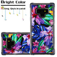 Tuff Lite Quicksand Case for Samsung Galaxy Note 9 - Watercolor Hibiscus