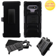 Advanced Armor Hybrid Kickstand Case with Holster for Samsung Galaxy Note 9 - Black