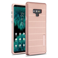 Haptic Dots Texture Anti-Slip Hybrid Armor Case for Samsung Galaxy Note 9 - Rose Gold