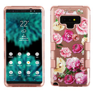 Military Grade Certified TUFF Image Hybrid Armor Case for Samsung Galaxy Note 9 - Roses Rose Gold