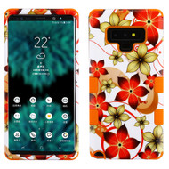 Military Grade Certified TUFF Image Hybrid Armor Case for Samsung Galaxy Note 9 - Hibiscus Flower Romance