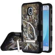 Military Grade Certified TUFF Image Hybrid Armor Case with Stand for Samsung Galaxy J3 (2018) - Tree Camouflage