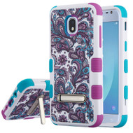 Military Grade Certified TUFF Image Hybrid Armor Case with Stand for Samsung Galaxy J3 (2018) - Persian Paisley