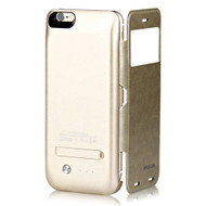 Power Bank Battery Charger Kickstand Flip Case 4200mAh for iPhone 6 Plus / 6S Plus - Gold