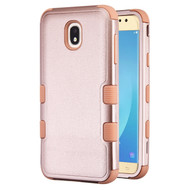 Military Grade Certified TUFF Hybrid Armor Case for Samsung Galaxy J7 (2018) - Rose Gold 404