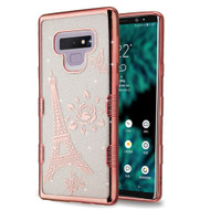 Tuff Lite Quicksand Electroplating Case for Samsung Galaxy Note 9 - Eiffel Tower