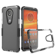 Transparent Protective Bumper Case for Motorola Moto E5 Play / E5 Cruise - Black