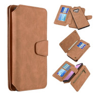 *SALE* 3-IN-1 Luxury Coach Series Leather Wallet with Detachable Magnetic Case for Samsung Galaxy Note 9 - Brown