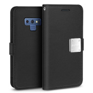 Essential Leather Wallet Case for Samsung Galaxy Note 9 - Black