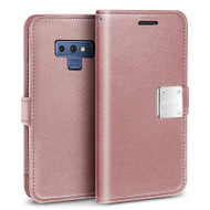 Essential Leather Wallet Case for Samsung Galaxy Note 9 - Rose Gold