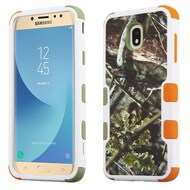 Military Grade Certified TUFF Hybrid Armor Case for Samsung Galaxy J7 (2018) - English Oak Hunting Camouflage