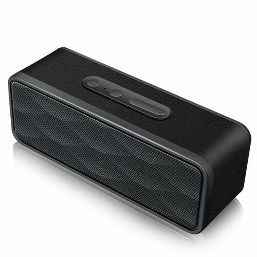 2.1 Channel Portable Stereo Bluetooth Wireless Stereo Speaker with Built-in Microphone and FM Radio - Black