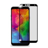 Premium Full Coverage 2.5D Tempered Glass Screen Protector for LG Q7 Plus - Black