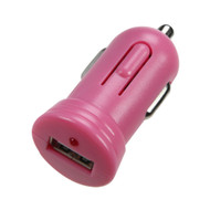 Bullet In-Car USB Charger Adapter with IC Chips - Pink