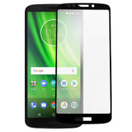 Full Coverage Premium 2.5D Round Edge HD Tempered Glass Screen Protector for Motorola Moto G6 Play / Moto G6 Forge - Black