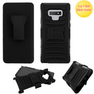 Advanced Armor Hybrid Kickstand Case with Holster for Samsung Galaxy Note 9 -  Black 201