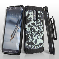 Military Grade Storm Tank Holster Case + Screen Protector for LG Stylo 3 / Stylo 3 Plus - Camouflage