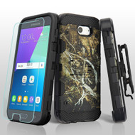 Military Grade Storm Tank Case + Holster + Tempered Glass for Samsung Galaxy J3 (2017) / J3 Emerge / J3 Prime - Tree