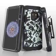Military Grade Certified Storm Tank Case + Holster + Screen Protector for Samsung Galaxy S9 - Camouflage