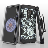 Military Grade Storm Tank Hybrid Case + Holster + Screen Protector for Samsung Galaxy S9 Plus - Camouflage