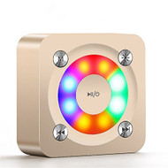 DJ Disco Lights Bluetooth Wireless Speaker with Built-in Microphone - Gold