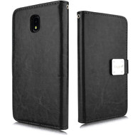 Leather Wallet with Removable Magnetic Case for Samsung Galaxy J7 (2018) - Black