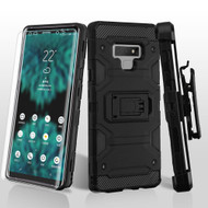 Military Grade Certified Storm Tank Hybrid Case with Holster and Screen Protector for Samsung Galaxy Note 9 - Black