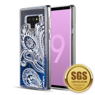 Quicksand Glitter Transparent Case for Samsung Galaxy Note 9 - Persian Paisley