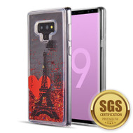 Quicksand Glitter Transparent Case for Samsung Galaxy Note 9 - Romance in Paris
