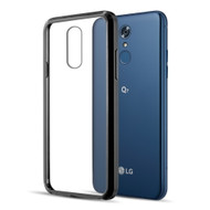 Polymer Transparent Hybrid Case for LG Q7 Plus - Black