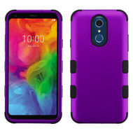 Military Grade Certified TUFF Hybrid Armor Case for LG Q7 Plus - Purple