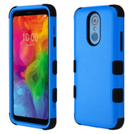 Military Grade Certified TUFF Hybrid Armor Case for LG Q7 Plus - Blue