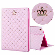 Crown Design Luxury Quilted Smart Leather Stand Case with Auto Sleep / Wake for iPad Mini 4 - Pink