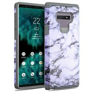 Hybrid Multi-Layer Armor Case for Samsung Galaxy Note 9 - Marble White