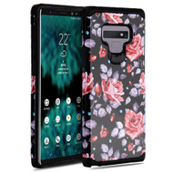 Hybrid Multi-Layer Armor Case for Samsung Galaxy Note 9 - Rose Black