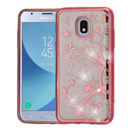 Electroplating Quicksand Glitter Transparent Case for Samsung Galaxy J3 (2018) - Maple Vine