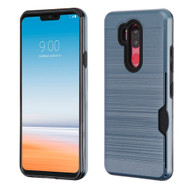 ID Card Slot Hybrid Case for LG G7 ThinQ - Ink Blue
