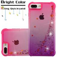 Confetti Quicksand Glitter Transparent Case for iPhone 8 Plus / 7 Plus / 6S Plus / 6 Plus - Gradient Purple