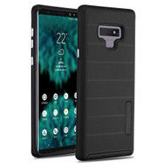 Haptic Dots Texture Anti-Slip Hybrid Armor Case for Samsung Galaxy Note 9 - Black