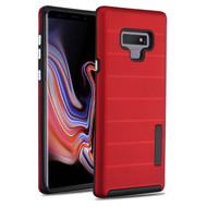 Haptic Dots Texture Anti-Slip Hybrid Armor Case for Samsung Galaxy Note 9 - Red