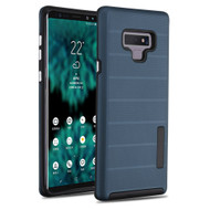 Haptic Dots Texture Anti-Slip Hybrid Armor Case for Samsung Galaxy Note 9 - Navy Blue