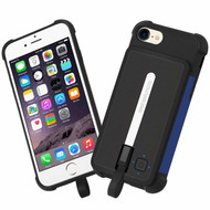 2-IN-1 Smart Battery Hybrid Case with Removable 2500mAh Power Bank for iPhone 8 / 7 / 6S / 6 - Black