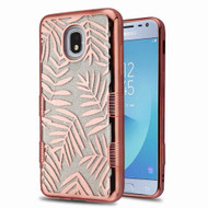 Tuff Lite Quicksand Electroplating Case for Samsung Galaxy J3 (2018) - Dancing Palm Leaves