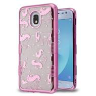 Tuff Lite Quicksand Electroplating Case for Samsung Galaxy J3 (2018) - Pink Unicorn